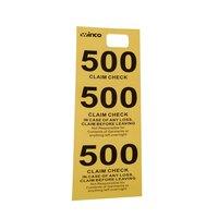 Yellow 3 Part Paper Coat Room Check - 500 / Box