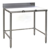 Eagle Group TB3648S 36 inch x 48 inch Poly Top Stainless Steel Trimming Table - Open Base
