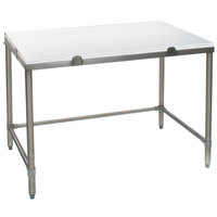 Eagle Group CHT3048S 30 inch x 48 inch Poly Top Stainless Steel Chopping Table - Open Base
