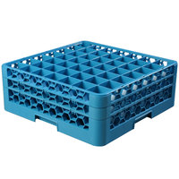 Carlisle RG49-214 OptiClean 49 Compartment Glass Rack with 2 Extenders