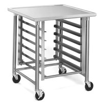 Eagle Group MMT3030S 30 inch x 30 inch Mobile Mixer Stand with Stainless Steel Legs