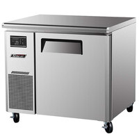 Turbo Air JUR-36 36 inch J Series One Door Undercounter Refrigerator with Side Mounted Compressor
