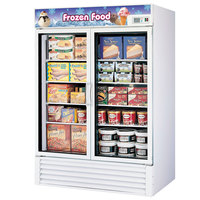 Turbo Air TGF-49F White 54 inch Two Glass Door Merchandising Freezer - 49 Cu. Ft.