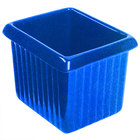 Tablecraft CW1520BS 1 Qt. Blue Speckle Cast Aluminum Rectangle Server with Ridges