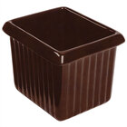 Tablecraft CW1520TC 1 Qt. Terra-Cotta Cast Aluminum Rectangle Server with Ridges