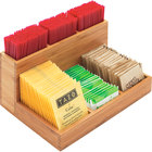 Cal-Mil 796-60 Bamboo Packet / Stirrer Organizer - 9 inch x 6 1/4 inch x 4 1/2 inch