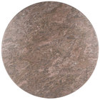 BFM Seating CN45R Midtown 45 inch Round Indoor Tabletop - Concrete