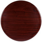 BFM Seating TTRS42RMH Resin 42 inch Round Indoor Tabletop - Mahogany
