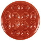 Homer Laughlin 724334 Fiesta Paprika 11 1/4 inch Egg Tray - 4/Case
