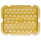 Rubbermaid FG120P00AMBR 1/3 Size Amber Hot Food Pan Drain Tray