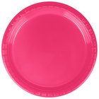 Creative Converting 28177011 7 inch Hot Magenta Pink Plastic Plate - 240/Case
