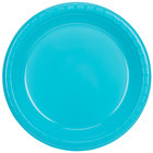 Creative Converting 28103931 10 inch Bermuda Blue Plastic Plate - 240/Case