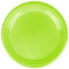 Creative Converting 28312321 9 inch Fresh Lime Plastic Dinner Plate - 240 / Case
