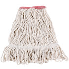 Continental A11111 16 oz. Loop End Natural Cotton Mop Head with 1 1/4 inch Band