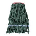 Continental A11311 16 oz. Green Loop End Natural Cotton Mop Head with 1 1/4 inch Band