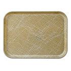 Cambro 3343214 13 inch x 17 inch (33 x 43 cm) Rectangular Metric Abstract Tan Fiberglass Camtray - 12 / Case