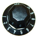 All Points 22-1575 2 inch Black Steamer Indicator Knob (Off, 1-10)