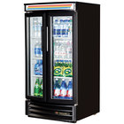 True GDM-14RF-LD Black Refrigerated Glass Door Merchandiser with Radius Front - 14 Cu. Ft.