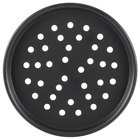 American Metalcraft HC2018P 18 inch Perforated Hard Coat Anodized Aluminum Tapered / Nesting Pizza Pan