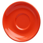 Elite Global Solutions DS Rio Spring Coral 5 5/8 inch Round Melamine Coffee Saucer