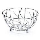 Elite Global Solutions WB94 Chrome Round Wire Basket - 9 inch x 4 inch