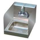 Advance Tabco 7-PS-23-EC-SP-X Hand Sink with Splash Mounted Extended Faucet and Side Splash Guards - 12