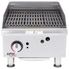 APW Wyott GCB-18i Champion Radiant 18 inch Charbroiler with Safety Pilot - 60,000 BTU