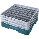 "Cambro 49S958414 Teal Camrack 49 Compartment 10 1/8"" Glass Rack"