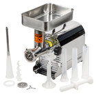 Weston 08-0801-W #8 Meat Grinder with 2 Plates and 3 Funnels