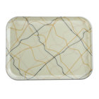 Cambro 57270 4 15/16 inch x 6 15/16 inch Rectangular Swirl Black and Gold Fiberglass Camtray - 12 / Case