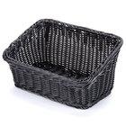 GET WB-1510-BK Designer Polyweave Plastic Cascading Basket - Black 9 1/4 inch x 13 inch