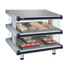 Hatco GR2SDS-24D Glo-Ray Designer 24 inch Slanted Double Shelf Merchandiser - 120V