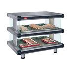 Hatco GR2SDH-54D Glo-Ray Designer 54 inch Horizontal Double Shelf Merchandiser