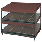 Hatco GRSDS-36D Antique Copper Glo-Ray 36 inch Slanted Double Shelf Merchandiser - 120V