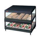 Hatco GRSDS-30D Black Glo-Ray 30 inch Slanted Double Shelf Merchandiser - 120V