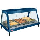 Hatco GRHD-3P Navy Blue Stainless Steel Glo-Ray 45 1/2 inch Full Service Single Shelf Merchandiser