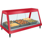 Hatco GRHD-3P Warm Red Stainless Steel Glo-Ray 45 1/2 inch Full Service Single Shelf Merchandiser