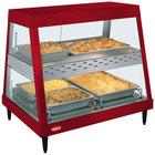 Hatco GRHD-2PD Warm Red Stainless Steel Glo-Ray 32 1/2 inch Full Service Dual Shelf Merchandiser