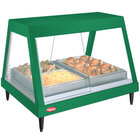 Hatco GRHD-3P Hunter Green Stainless Steel Glo-Ray 45 1/2 inch Full Service Single Shelf Merchandiser