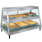 Hatco GRHD-3PD Stainless Steel Glo-Ray 45 1/2 inch Full Service Dual Shelf Merchandiser