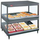 Hatco GRSDS/H-41DHW Gray Granite Glo-Ray 41 inch High Wattage Horizontal / Slanted Double Shelf Merchandiser