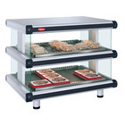 Hatco GR2SDH-24D White Granite Glo-Ray Designer 24 inch Horizontal Double Shelf Merchandiser - 120V