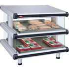 Hatco GR2SDS-30D White Granite Glo-Ray Designer 30 inch Slanted Double Shelf Merchandiser
