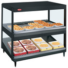 Hatco GRSDS/H-36DHW Black Glo-Ray 36 inch High Wattage Horizontal / Slanted Double Shelf Merchandiser