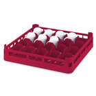 Vollrath 52677 Signature Full-Size Red 20-Cup 4 1/8 inch Medium Rack