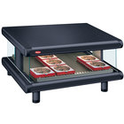 Hatco GR2SDS-24 Black Glo-Ray Designer 24 inch Slanted Single Shelf Merchandiser - 120V