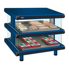 Hatco GR2SDS-30D Navy Blue Glo-Ray Designer 30 inch Slanted Double Shelf Merchandiser