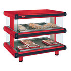 Hatco GR2SDH-36D Warm Red Glo-Ray Designer 36 inch Horizontal Double Shelf Merchandiser