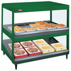 Hatco GRSDS/H-36DHW Hunter Green Glo-Ray 36 inch High Wattage Horizontal / Slanted Double Shelf Merchandiser
