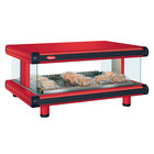 Hatco GR2SDH-24 Warm Red Glo-Ray Designer 24 inch Horizontal Single Shelf Merchandiser - 120V